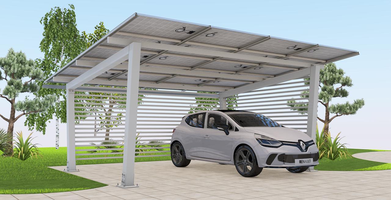 3D carport solaire