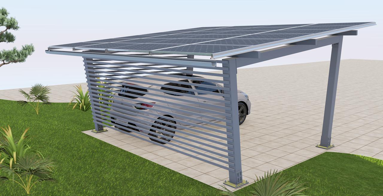 back carport solaire