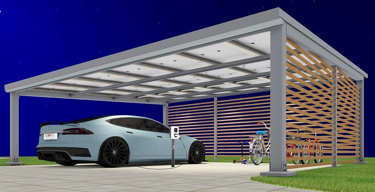 carport solaire voiture électrique