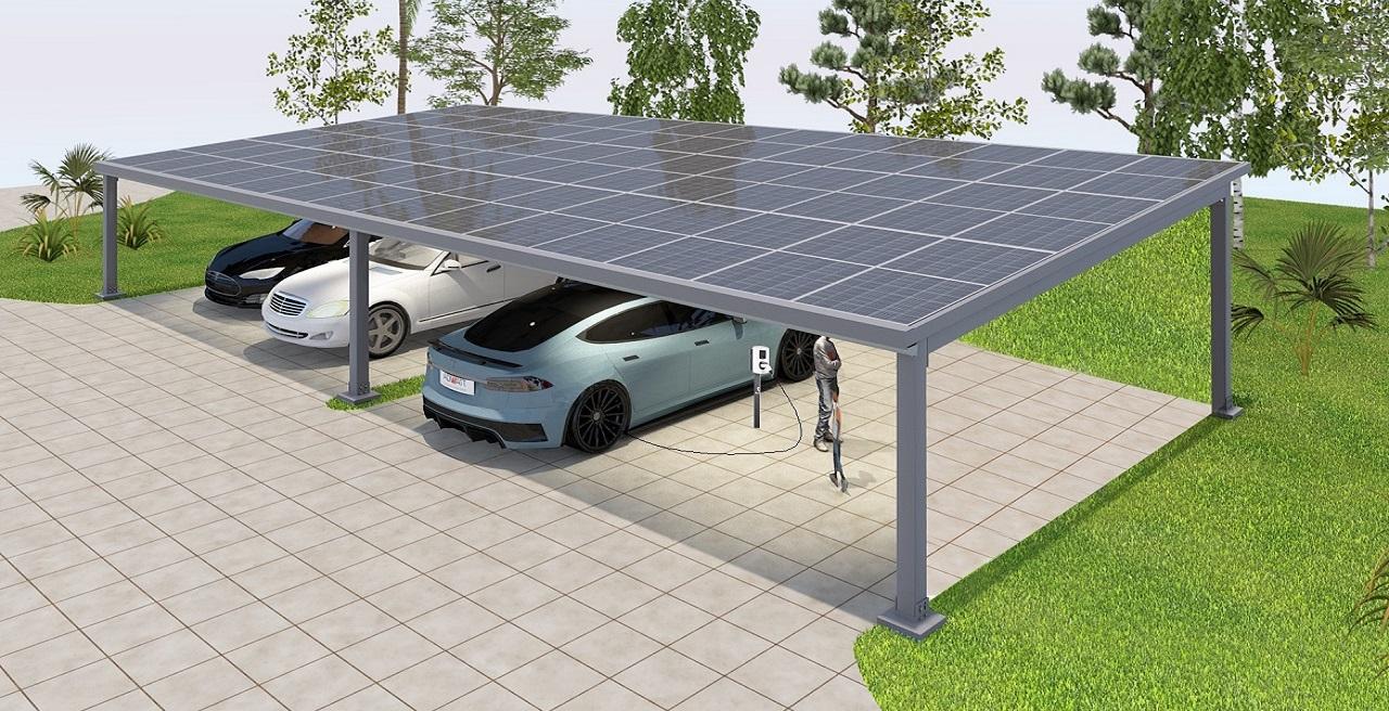 carport solaire multiple voiture