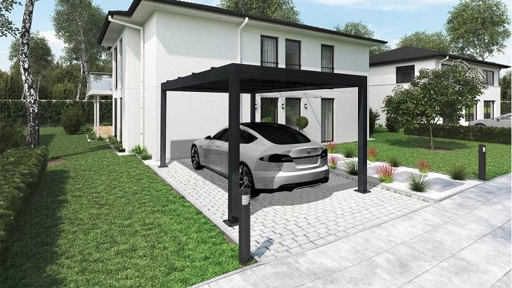 carport solaire maison 2
